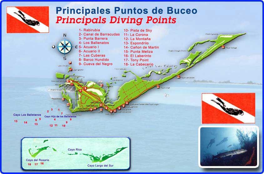 mapa Cayo Largo del Sur